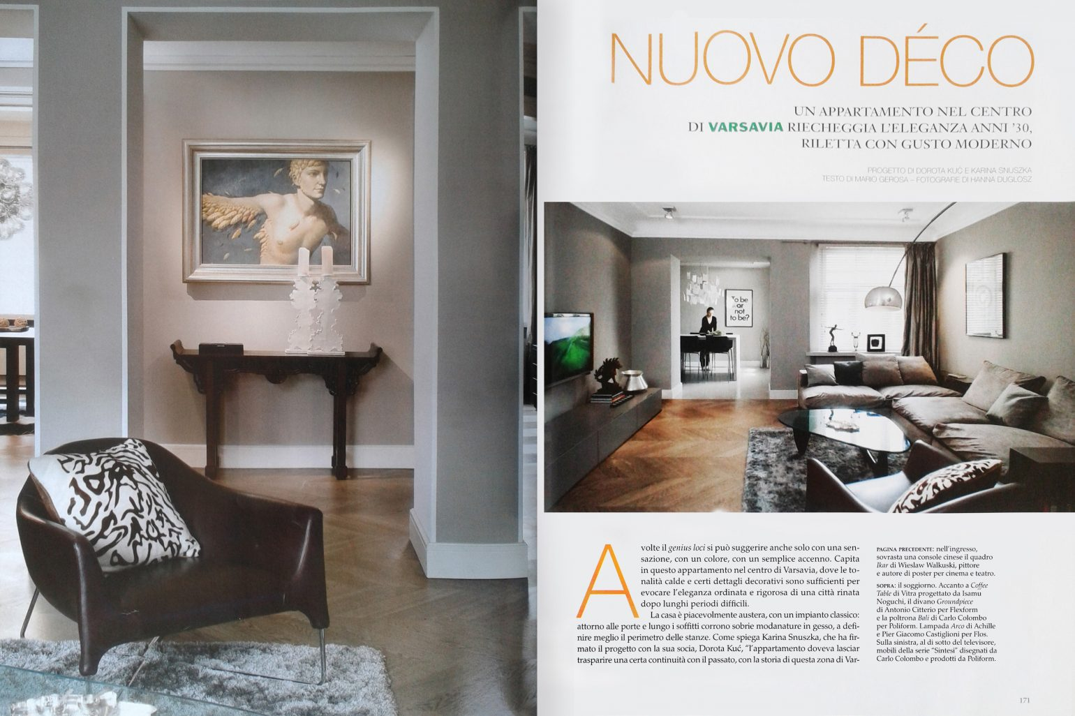 Italian Edition Of The Most Prestigious Interior Design Magazine Has Featured Our Character
